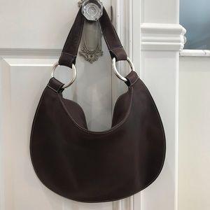 Sequoia Paris soft brown leather shoulder bag